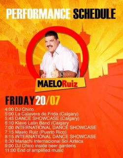 Fiestaval Full Lineup Friday 20 2018